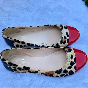 KATE SPADE Leopard Print Calf Fur BalletFlats NWOT